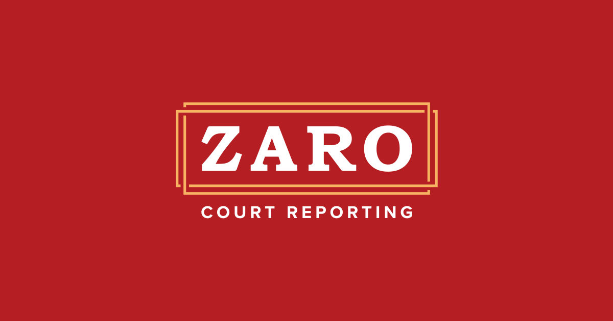 Zaro Court Reporting